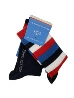 TH KIDS BASIC STRIPE SOCK 2P